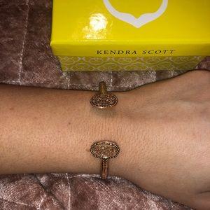 kendra scott rose gold drusy bracelet
